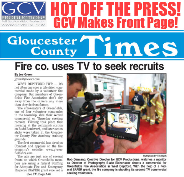 gcv made the front page gcv productions